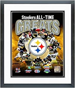 Pittsburgh Steelers All Time Greats Photo Matted & Framed 12.5 x 15.5 by NFL