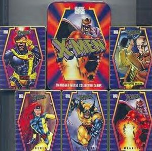 X-Men Embossed Metal Collector Cards Set in Tin