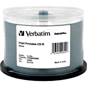 CD-R 700MB 52x Write Once DataLifePlus Slver Inkjet Printable Recordable Compact Disc Spindle Pack Of 50 And Free...