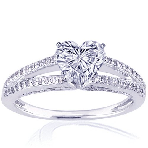 1.35 Ct Heart Shaped Diamond Engagement Ring