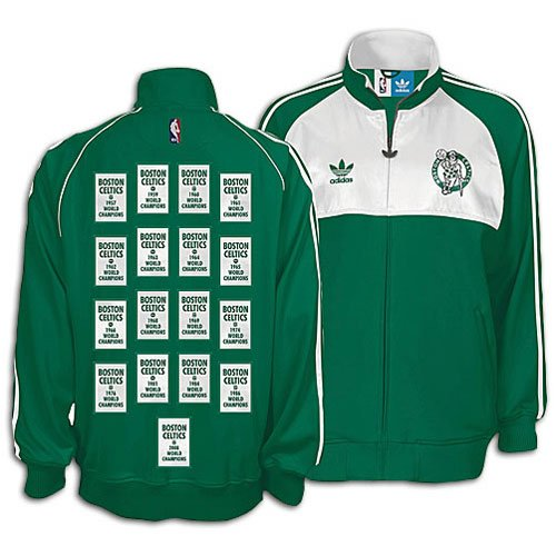 Boston Celitcs Hardwood Classics Champions Banner Jacket (XXL) at Amazon.com