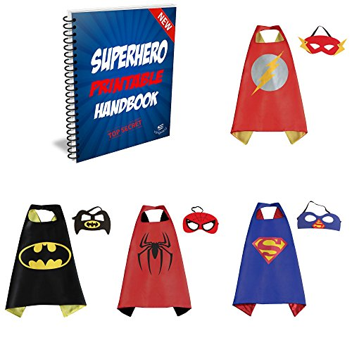 [Vanguard Superhero Cape and Mask set of 4 different styles] (Costumes Ideas For 4)