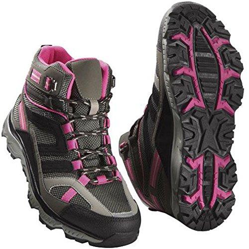 Damen Trekkingschuhe Wanderschuhe Trekking Schuhe Gr. 38 Grau/Pink Atmungsaktiv Wasserdicht