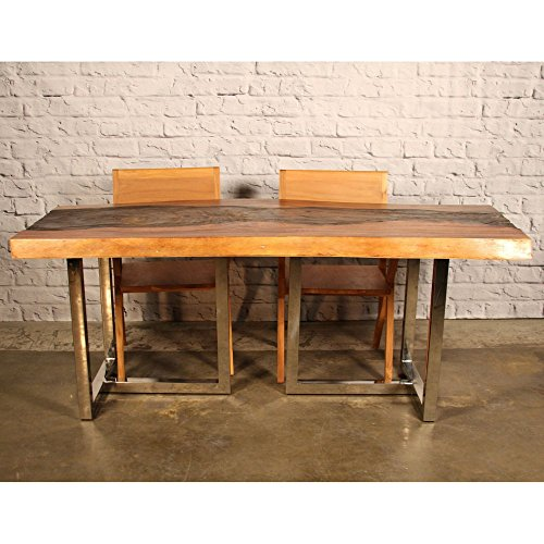 Indomodern Indomodern Nebula Erotion Dining Table, Brown, Suar Wood