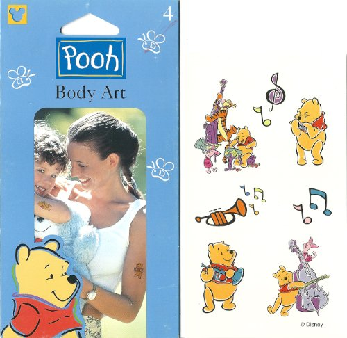Disney Musical Winnie the Pooh Body Art Temporary Tattoos - 1