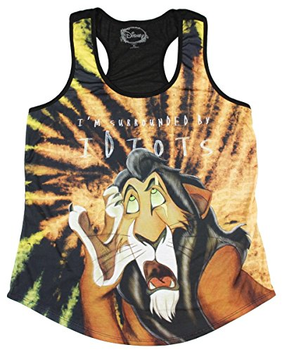 Disney The Lion King Scar Surrounded By Idiots Sublimation Girls Tank Top (Medium) (The Lion King Merchandise compare prices)