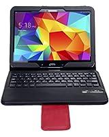IVSO Custodia Protettiva con Tastiera QWERTY Bluetooth per Samsung Galaxy Tab 4 10.1 Tablet - NON adattarsi Galaxy Tab 3 10.1 - con Removable Keyboard (Nero)