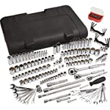 Klutch SAE and Metric Mechanic's Tool Set - 189-Pc., 1/4in., 3/8in. & 1/2in. Drive