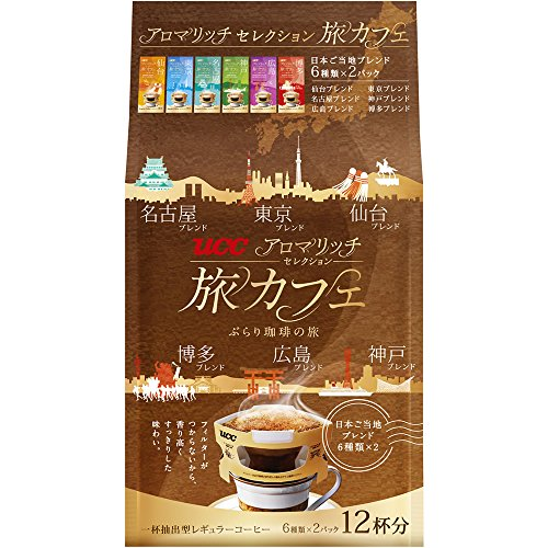 Ucc Aroma Rich Selection Single Serve Hand Drip Coffee 12 Count[6Taste*2Packs]