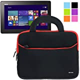 Evecase Ultra-Portable Universal Neoprene Zipper Sleeve Case for Tablets and Laptops such as Asus Transformer Book T100 - 10.1 inch Windows 8.1 Tablet
