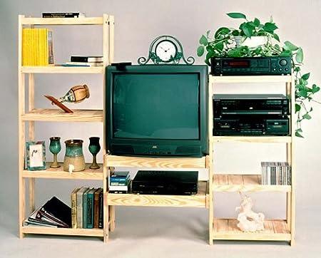 TV Entertainment Center - Solid Wood - Super Strong - Adjustable Unit