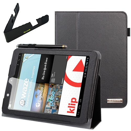 Birugear Slimbook Leather Folio Stand Case Cover With Travel Holder For E-Fun Nextbook Premium 8Hd (Nx008Hd8G) - 8'' Tablet [June 2013 Walmart Release]