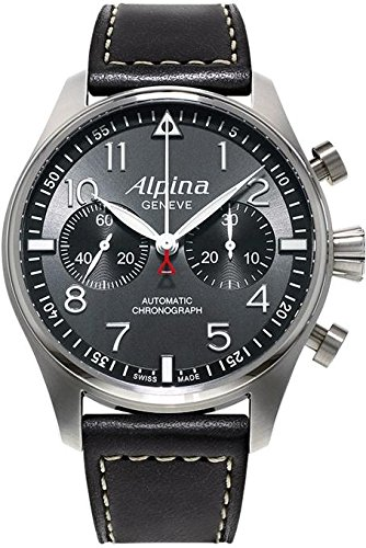 Alpina-Aviation-Startimer-Pilot-Chronograph-Mens-Leather-Strap-Watch-AL-860GB4S6