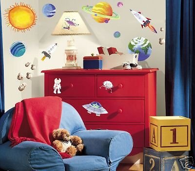 New Outer Space 35 Wall Stickers Party Decorations Favors front-27962
