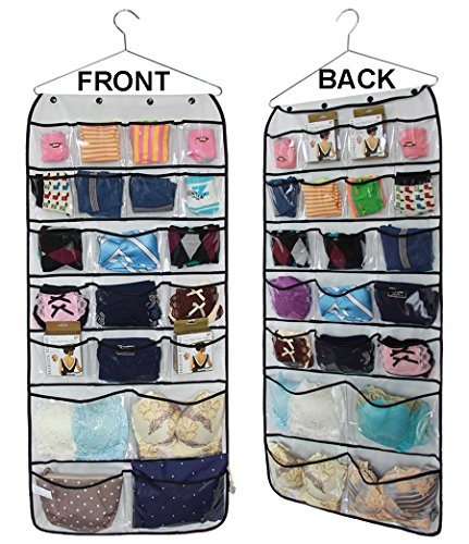 Misslo® Hanging Closet Jewelry Dual-sided Organizers Bra Underwear Socks Ties Storage 42 Pockets
