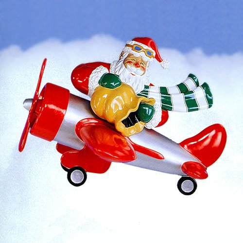 Giant Commercial Grade Santa In Airplane Christmas Display Decoration