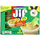 Jif To Go Creamy Reduced Fat Peanut Butter Spread, 13.6 Ounce (Pack of 6)