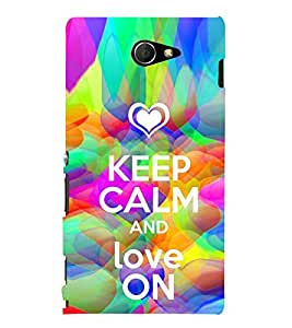 ifasho Designer Phone Back Case Cover Sony Xperia M2 Dual :: Sony Xperia M2 Dual D2302 ( Deer Face Classic Look Prisma Look )