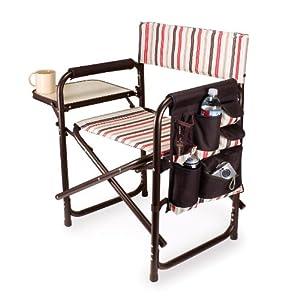 Picnic Time Portable Folding Sports Chair, Moka