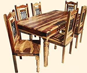 Vandana Classic 7pc Dining Room Table And Chair Set Home K