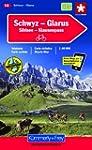 Velokarte Glarus - Schwyz 1 : 60 000