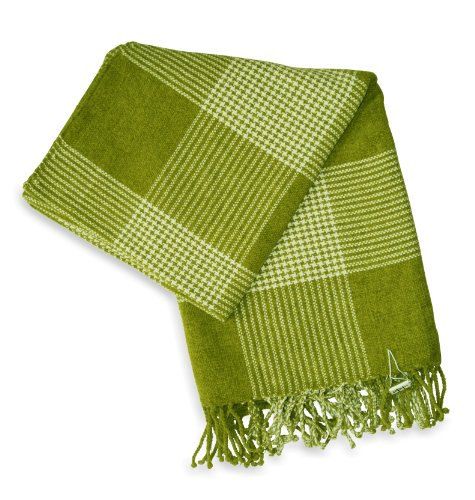Jovi Home Bucolic Chenille Hand Woven Throw 50-Inch-By-60-Inch, Green