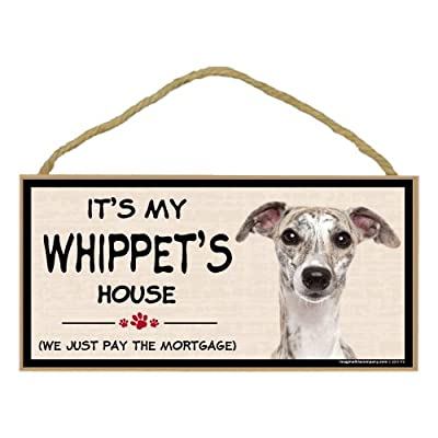 Imagine This Wood Breed Decorative Mortgage Sign, Whippet
