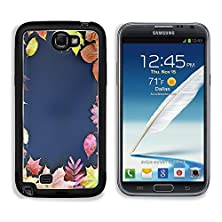 buy Msd Samsung Galaxy Note 2 Aluminum Plate Bumper Snap Case Autumn Colored Leaves On A Blackboard Image 22343340