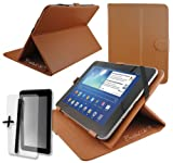 Brown PU Leather Case Cover Stand for SUMVISION CYCLONE EXPLORER 7
