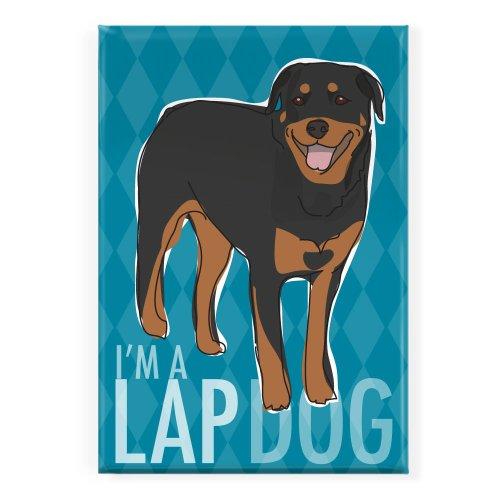 Pop Doggie Lap Dog Rottweiler Fridge Magnet (Rottweiler Refrigerator Magnets compare prices)