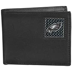 NFL Philadelphia Eagles Gridiron Leather Bi-Fold Wallet by Siskiyou Sports