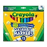 Crayola Broad Line Washable Markers-Assorted Colors 12/Pkg