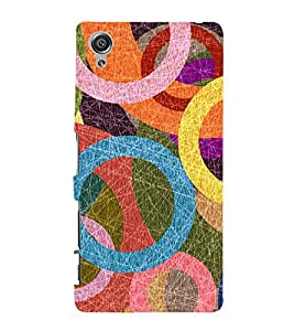 Circular Abstract Painting 3D Hard Polycarbonate Designer Back Case Cover for Sony Xperia X :: Sony Xperia X Dual