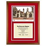 Indiana University (Bloomington) Diploma Frame with IU Lithograph Art Print ~ Old School Diploma...