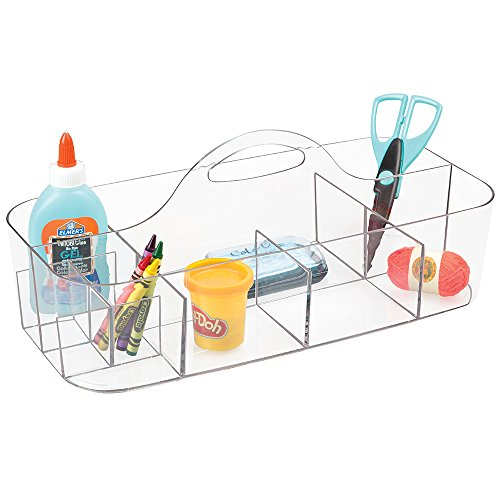 mDesign Art Supplies, Crafts. Crayons and Sewing Organizer