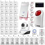 Fuers G25 Wireless IOS Android App Control Voice Prompt Quad-band GSM Home Security Burglar Alarm System,1PCS IP Camera,1 PCS Wireless Keyboard