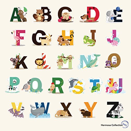 Fun-Educational-Alphabet-with-Animals-for-Baby-Nursery-and-Kids-Rooms-Wall-Decor-Easy-Peel-Stickers-Decals