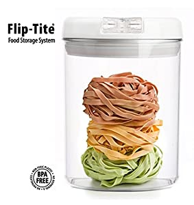 Functional Storage Container Flip Tite Round Canister 5 X 5 X 7 1 4 L 49oz