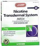 Leader Nicotine Transdermal AP 7 mg./24 Hour, 14 ct (Compared to NicoDerm CQ)