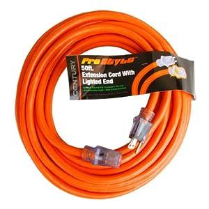 Century Contractor Grade 50' 10 Gauge Power Extension Cord 10/3 Plug