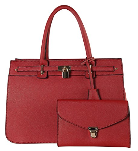 diophy-saffiano-pu-leather-front-lock-decor-bag-in-bag-tote-accented-with-one-push-lock-clutch-2-pie
