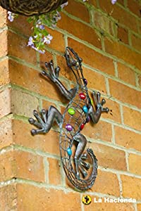 Delightful Lizard Design Wall Art Piece with Colourful Stones by Leisure Traders