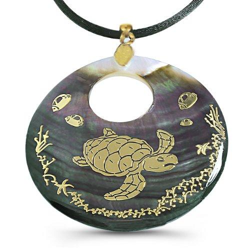 Pearl Shell Pendant - Sea Turtle