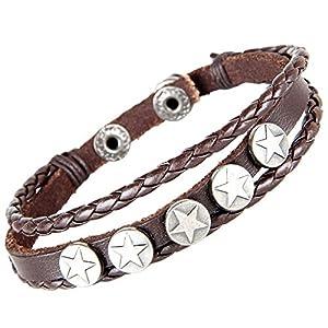 MULBA Cuir Fashion Style Bracelet Cuff Bracelet Homme Bracelet Wrap Sl2734