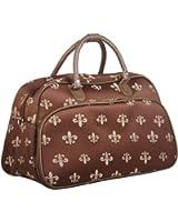 World Traveler 13-Inch Duffle Bag, Houndstooth Black