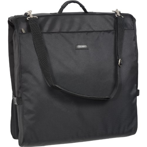 WallyBags 45 Inch Framed Garment Bag with Shoulder Strap, Black, One Size (Shoulder Garment Bag compare prices)