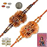 Little India Multicolor Mauli 1 Rakhi With Pooja Coin, Roli, Rice, Sandal Powder, Misri, 1 Greeting Card For Brother(Men/Boys)