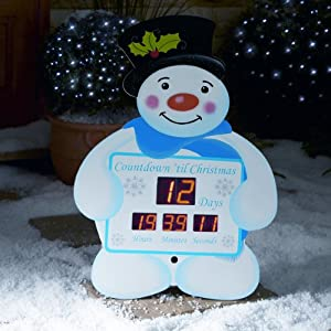 Snowman christmas countdown clock from premier decorations amazon co