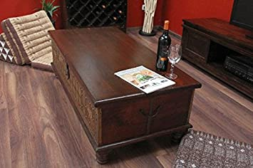 sale couchtisch truhe kolonial truhentisch massivholz indien 130x63x44 reviews rheleduc4. Black Bedroom Furniture Sets. Home Design Ideas