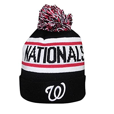 Adult MLB - WASHINGTON NATIONALS Winter Hat / Beanie with Removable Pom Pom
